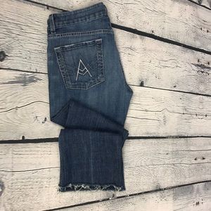 7 FOR ALL MANKIND A Pocket Frayed Crop Jeans sz 29
